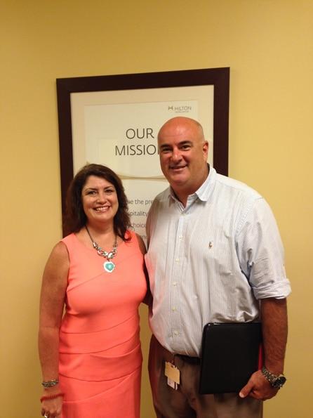 Karole Streu, Senior Human Resources Manager at Parc Soleil, with Bill Norton, Recreation Manager HGV Orlando Resorts