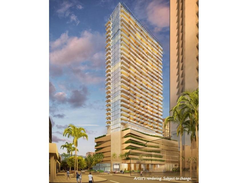 Ka Haku by Hilton Club Mauka Tower exterior rendering