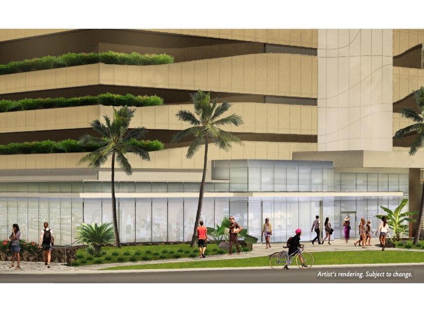 Ka Haku by Hilton Club retail level rendering