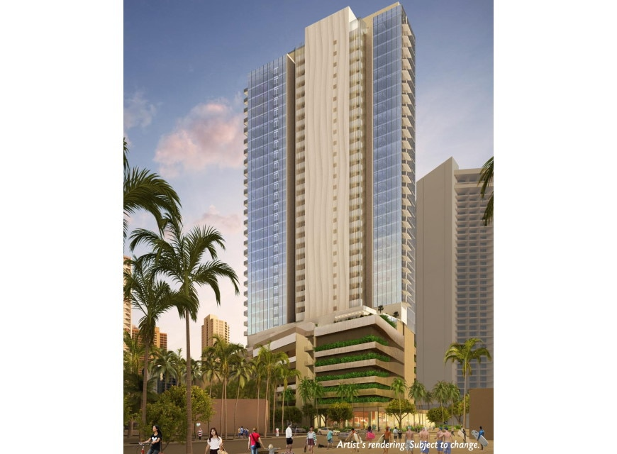 Ka Haku by Hilton Grand Vacations Makai Tower exterior rendering