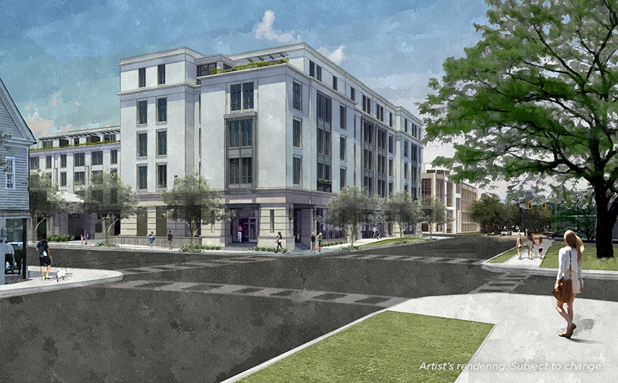 Liberty Place Charleston by Hilton Club Exterior Rendering - Calhoun Street