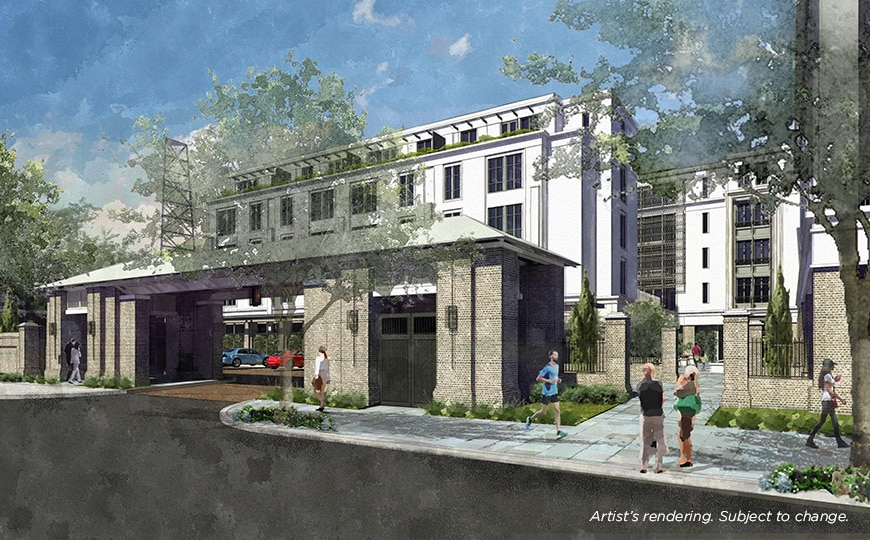 Liberty Place Charleston by Hilton Club Exterior Rendering - Alexander Street