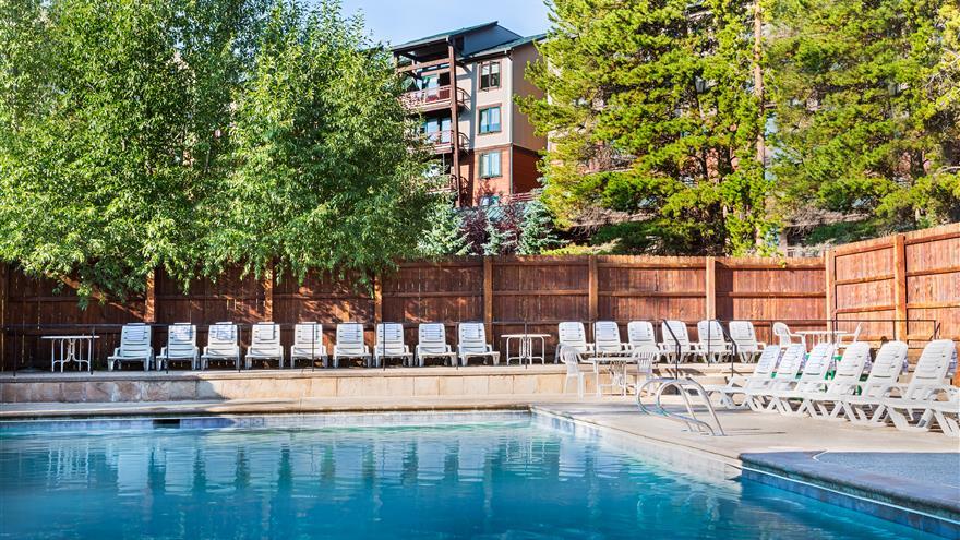 Pool at Valdoro Mountain Lodge located in Breckenridge, Colorado