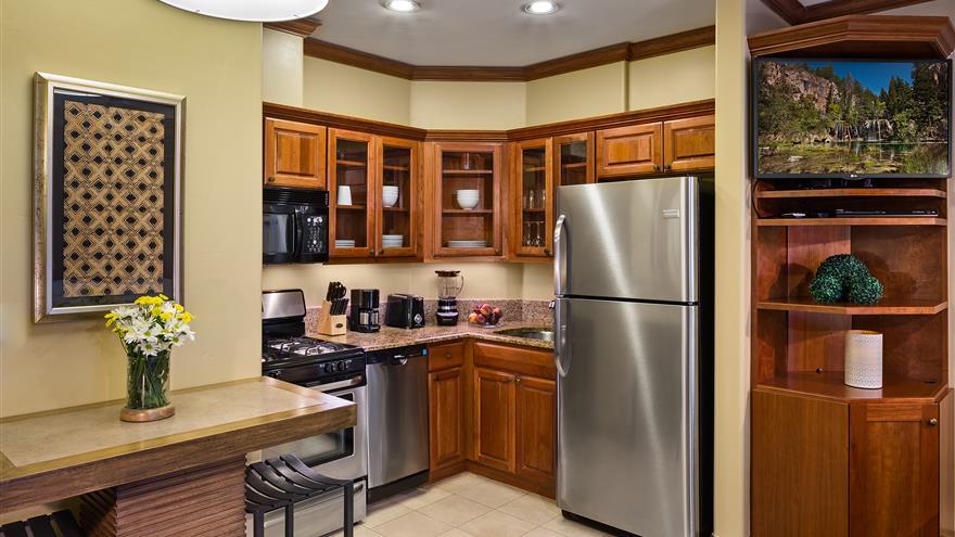 Kitchen at Valdoro Mountain Lodge located in Breckenridge, Colorado