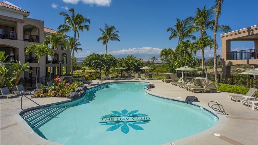 Pool at The Bay Club at Waikoloa Beach Resort located on the Big Island, Hawaii.