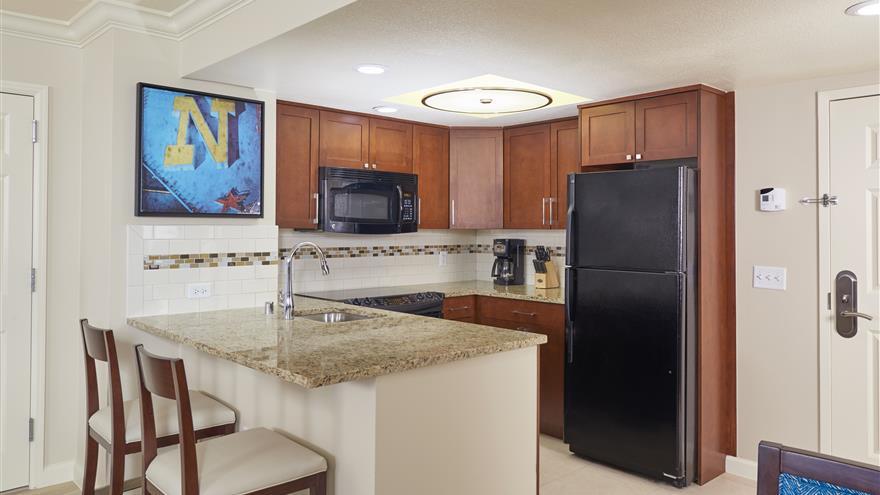 Kitchen at Hilton Grand Vacations on Paradise located at Las Vegas, Nevada.