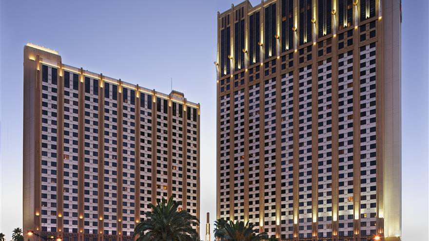 Exterior view of Hilton Grand Vacations on the Boulevard located at Las Vegas, Nevada.