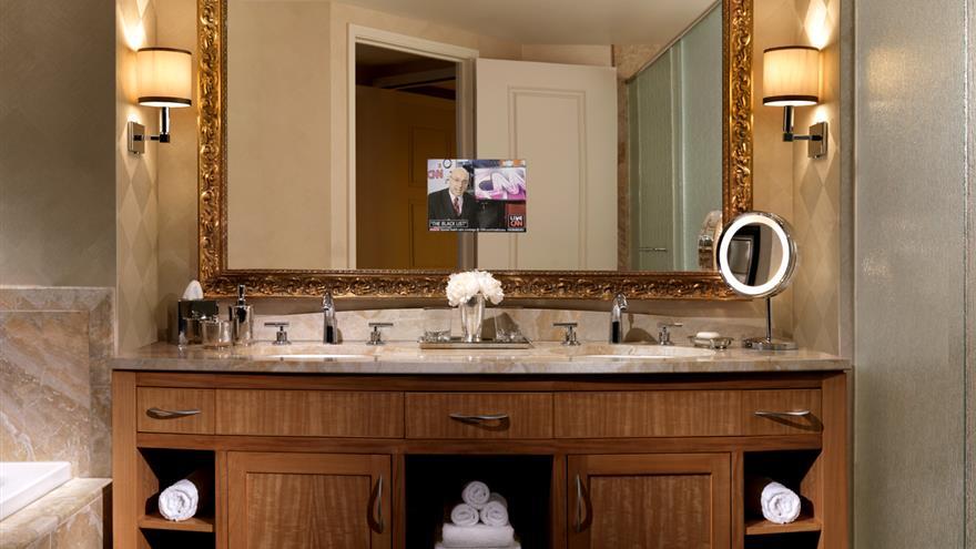Restroom at Hilton Grand Vacations at Trump International Hotel Las Vegas located in Las Vegas, Nevada.