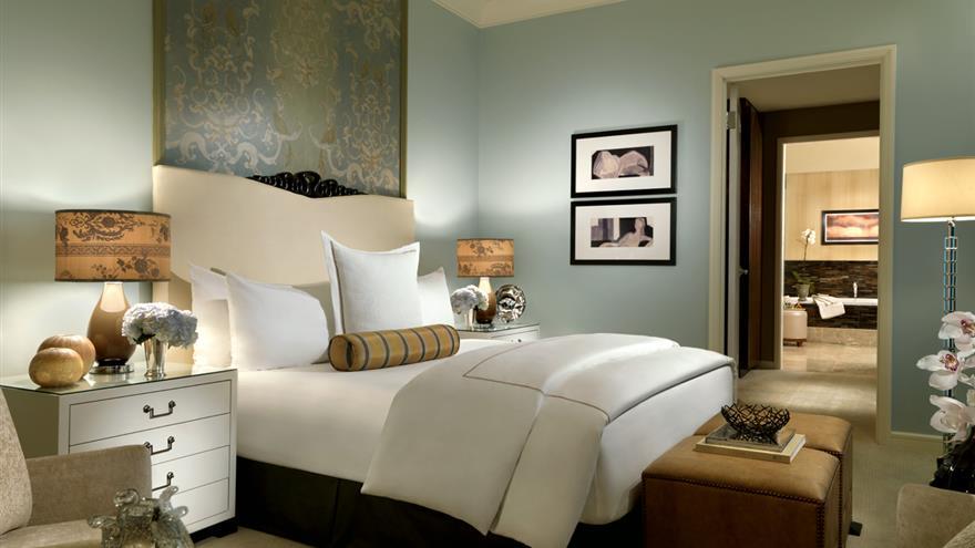 Bedroom at Hilton Grand Vacations at Trump International Hotel Las Vegas located in Las Vegas, Nevada.