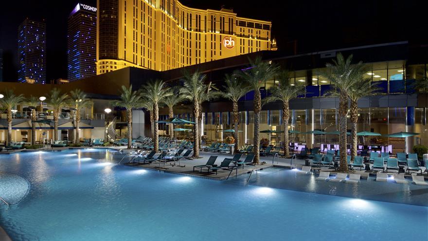 Pool at Elara by Hilton Grand Vacations located in Las Vegas, Nevada.