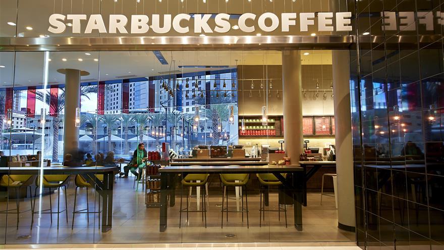 Starbucks coffee located near Elara by Hilton Grand Vacations located in Las Vegas, Nevada.