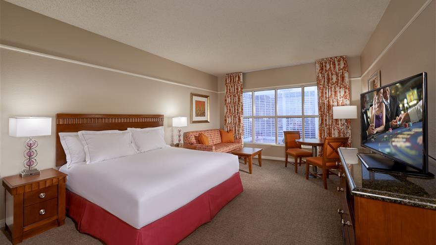 Bedroom at Hilton Grand Vacations at the Flamingo located at Las Vegas, Nevada.