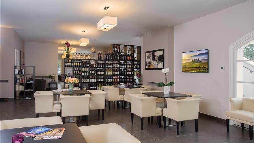 Lounge at Hilton Grand Vacations at Borgo alle Vigne located at Selvatelle, Pisa, Italy.