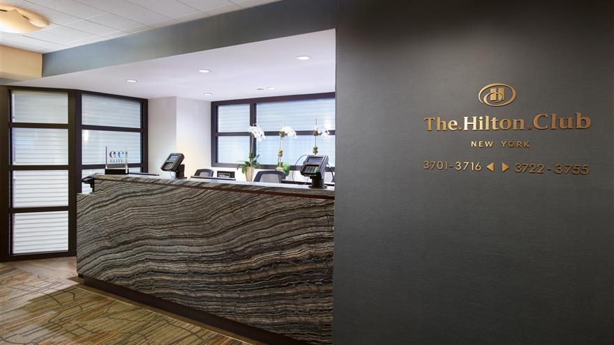 Lobby at The Hilton Club – New York