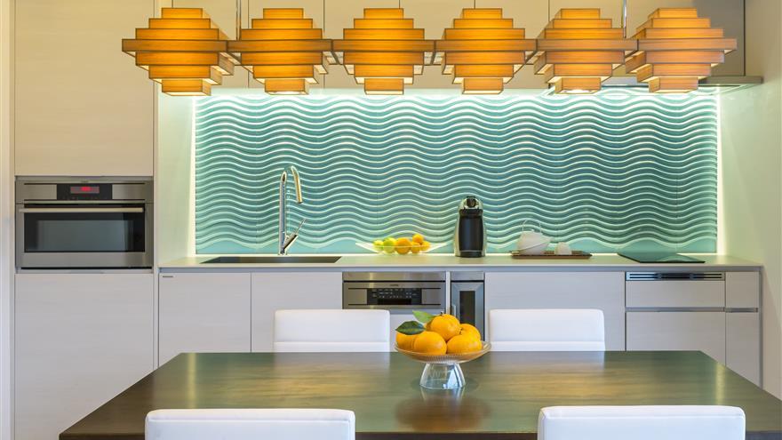 Kitchen and dining area at The Bay Forest Odawara by Hilton Club located at Odawara-shi, Kanagawa, Japan.