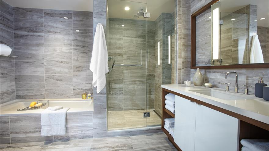 Bathroom at The Residences by Hilton Club located in New York City.
