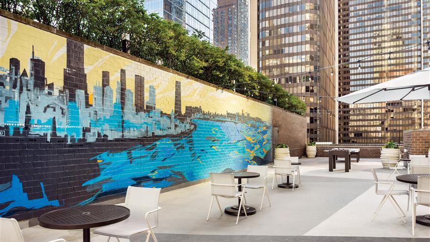 Courtyard at Hilton Grand Vacations Chicago Downtown /Magnificent Mile located in Illinois.