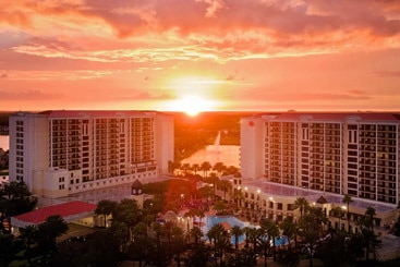 Sunset over Resort