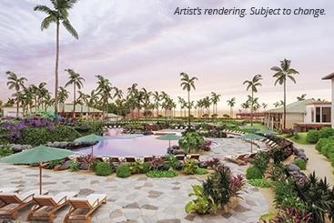Sanding tropics palm tree resort