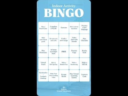 Bingo, family game night, kids activities