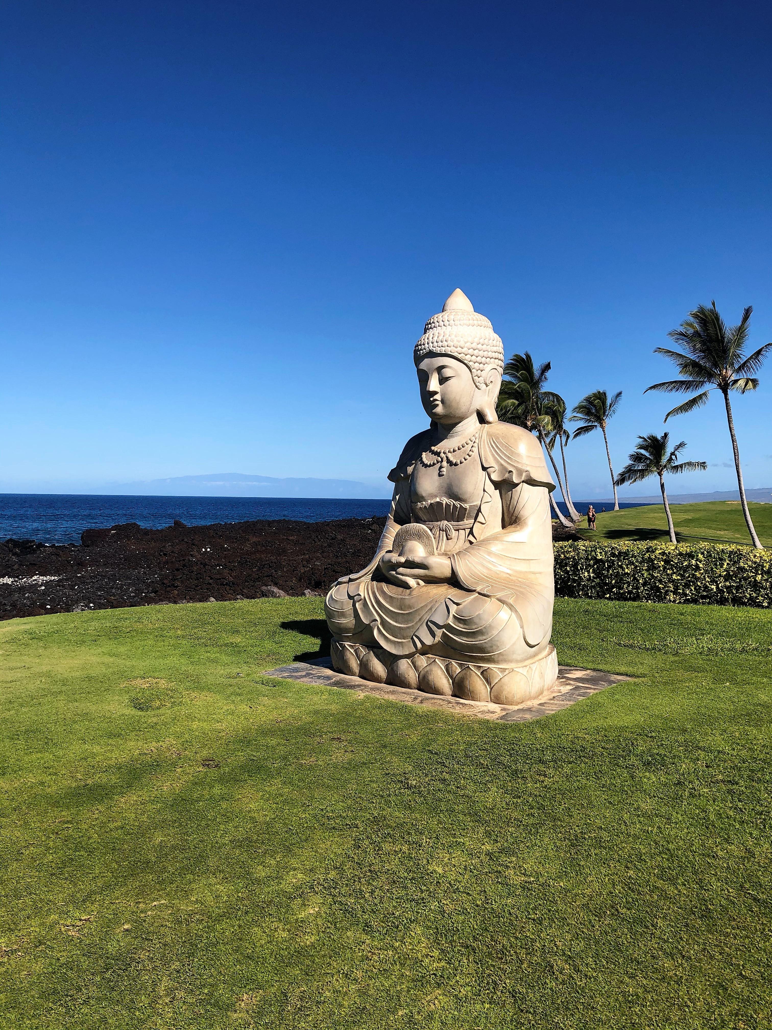Buddha Point at Hilton Grand Vacations Ocean Tower at Hilton Waikoloa Village in Hawaii.