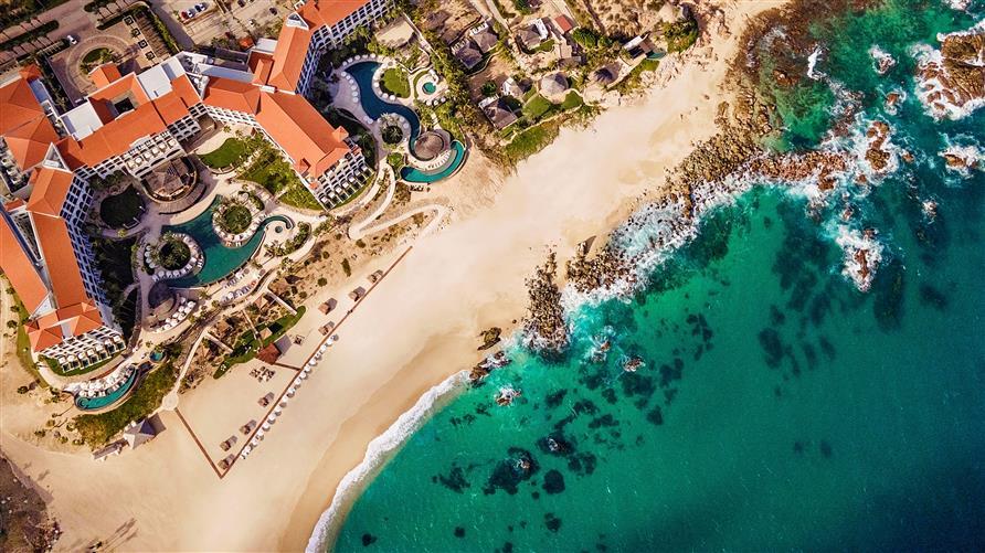 Aerial view of La Pacifica by Hilton Club in Los Cabos, Mexico.