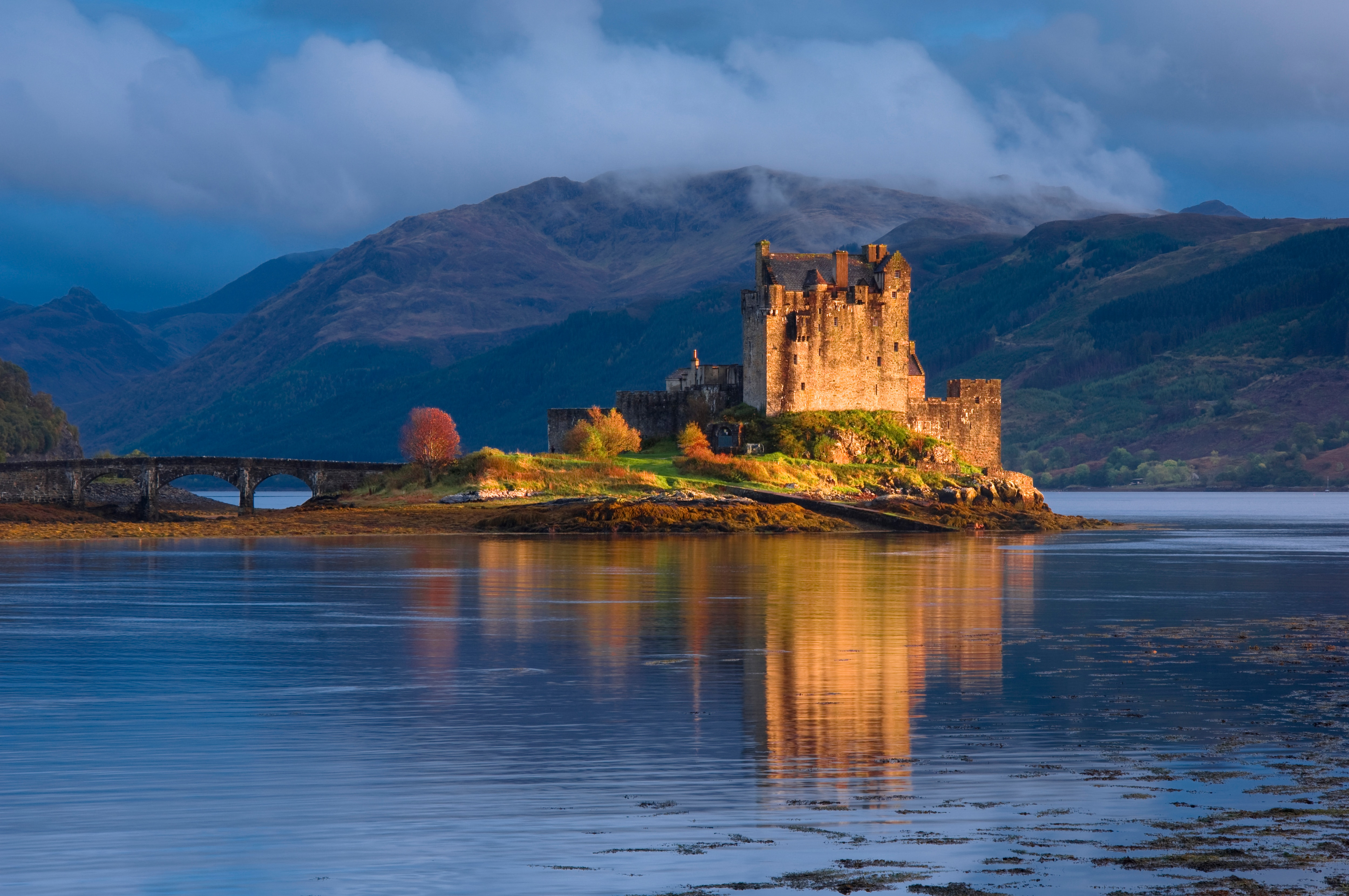 A castle in the Scottish Highlands.