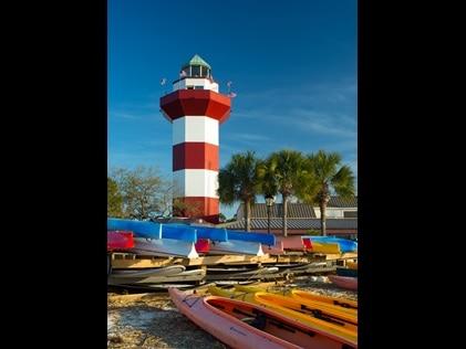 Lighthouse on Hilton Head Island, South Carolina.