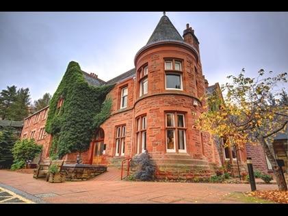 Exterior shot of Hilton Grand Vacations at Craigendarroch Suites in Scotland.