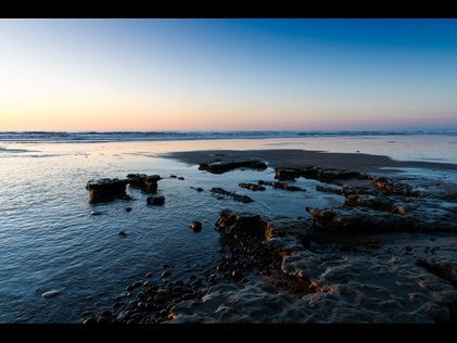 Sunrise over Moonlight Beach Encinitas, California (San Diego).