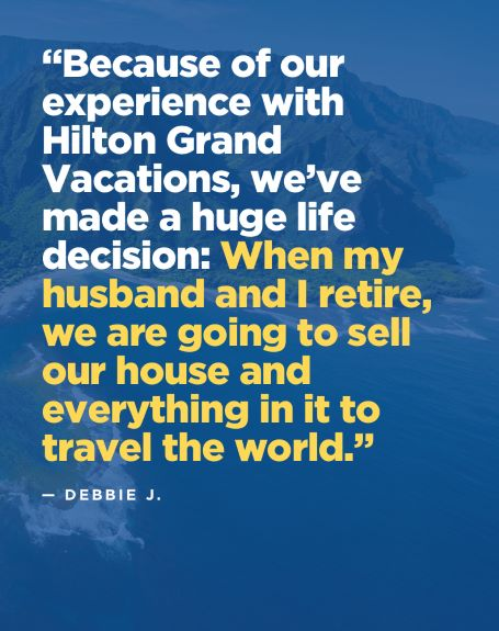 Picture quote with Hilton Grand Vacations Owner review.