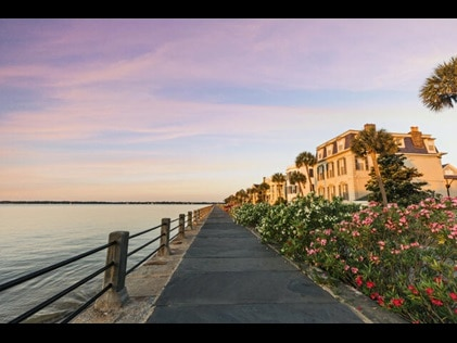 Shot of the Battery District in Charleston, South Carolina.