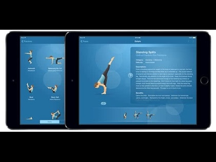 Pocket Yoga app for working out while travling