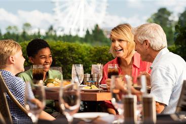 Family enjoying lunch