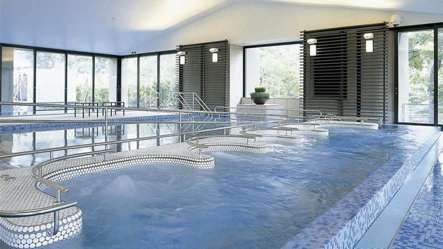 Indoor hot springs at Hotel Harvest Nasu located at Tochigi, Japan.