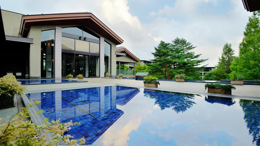 Pool at Hotel Harvest Nasu located at Tochigi, Japan.