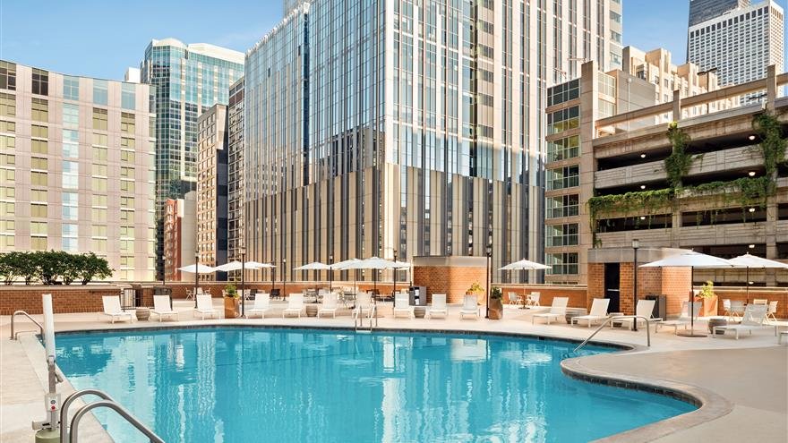 Pool at Hilton Grand Vacations Chicago Downtown /Magnificent Mile located in Illinois.