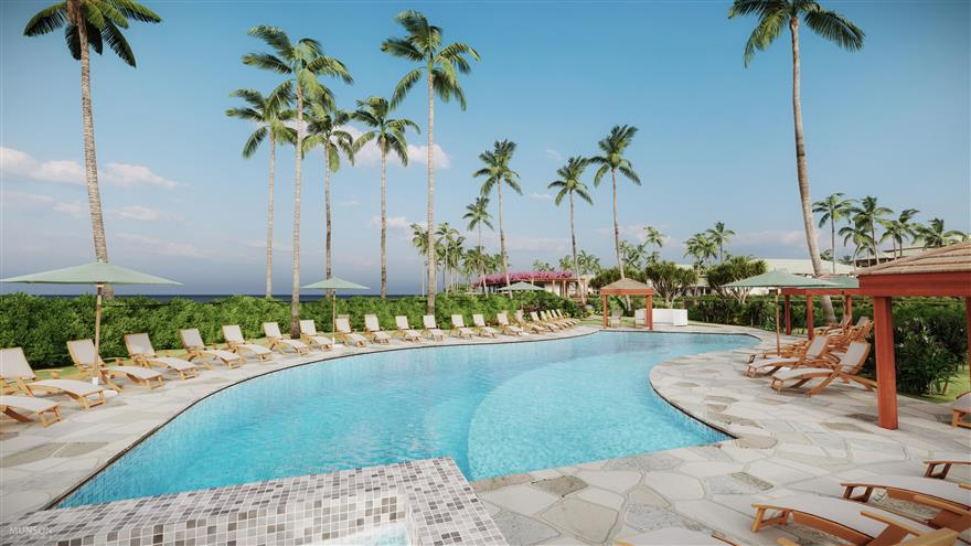 Pool at Maui Bay Villas by Hilton Grand Vacations located in Maui, Hawaii.