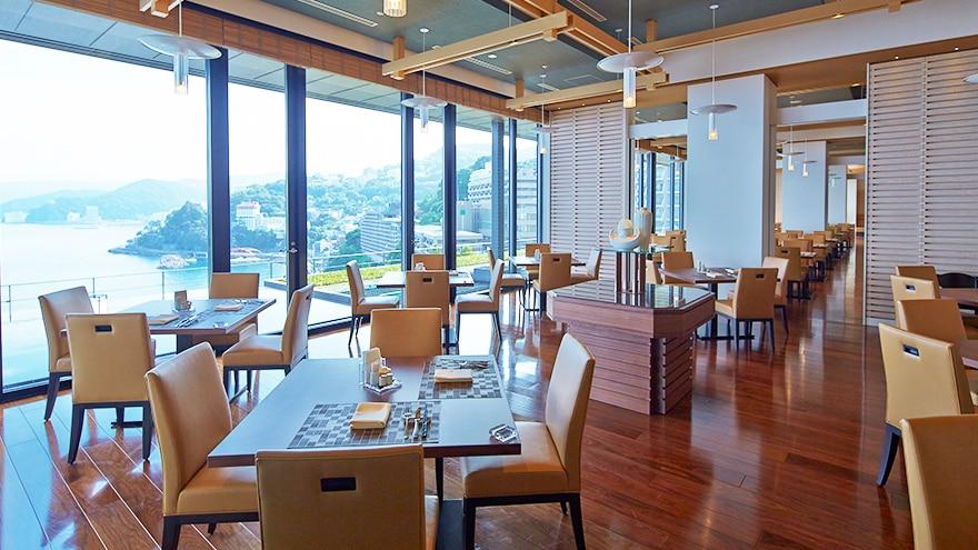 Restaurant at Hotel Harvest Atami Izusan located in Atami, Shizuoka, Japan.