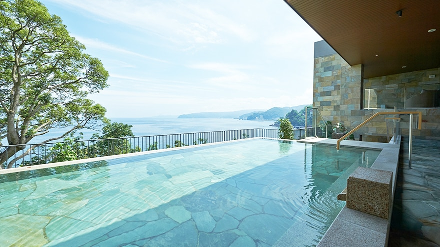 Pool at Hotel Harvest Atami Izusan located in Atami, Shizuoka, Japan.