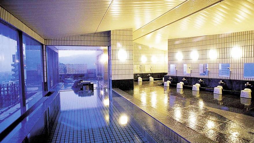 Hot Springs at Hotel Harvest Ito located in Shizuoka, Japan.