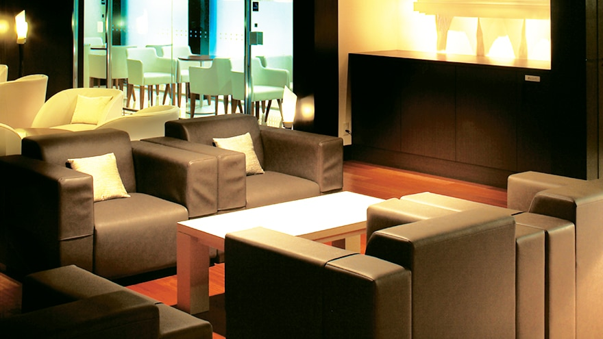Lounge at Hotel Harvest Ito located in Shizuoka, Japan.