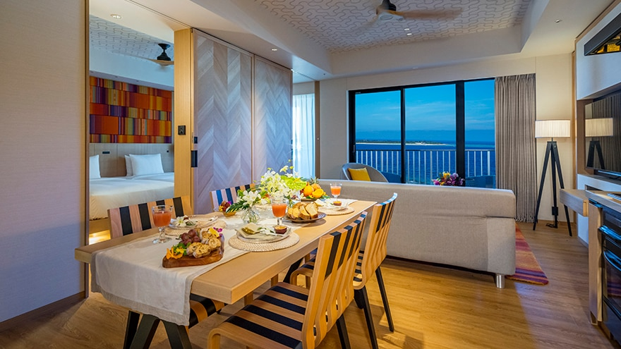 The Beach Resort Sesoko by Hilton Club   Dining room in Model room