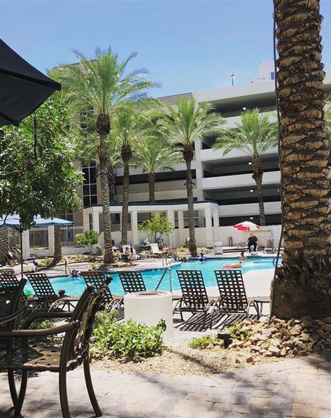 Pool at Hilton Grand Vacations on Paradise located at Las Vegas, Nevada.
