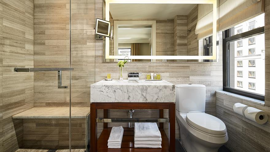 Bathroom at The Quin by Hilton Club located in New York.