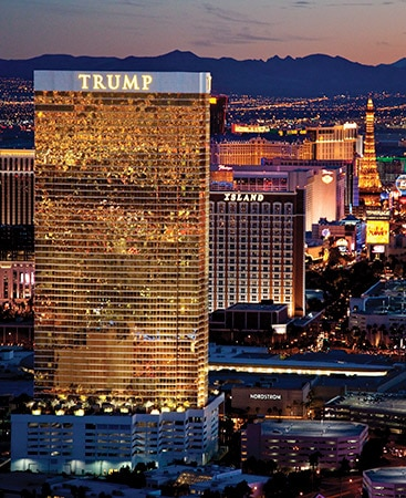 Ariel View of Trump International Hotel Las Vegas