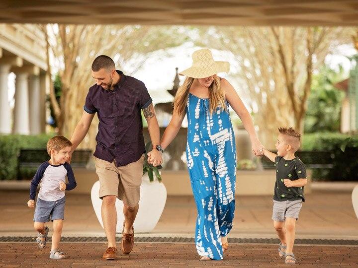 A Family enjoying an Orlando Vacation