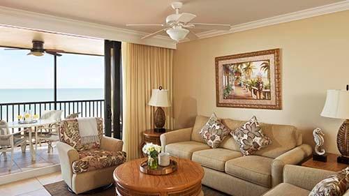 Eagle's Nest Beach Resort Living Area