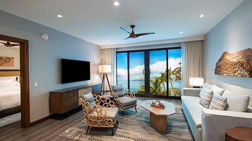 Maui Bay Villas by Hilton Grand Vacations Club Living Area