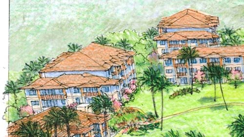 Maui Bay Villas by Hilton Grand Vacations Club Rendering